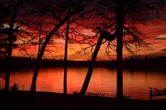 Sunset over Lake Livingston--Texas