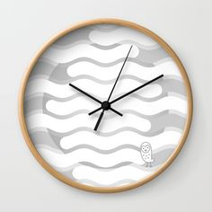 Buy #012 OWLY clouds Wall Clock by owlychic. Worldwide shipping available at Society6.com. Just one of millions of high quality products available. #livingrooms #products #today #owlychic  #livingrooms #decors #building #product #clock #wall #wallclocks