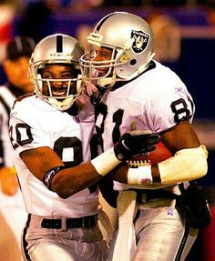 Two Of The Greats Baby  Tim Brown and Jerry Rice.
