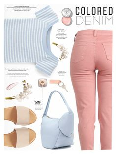 """""""Colored denim - Yoins"""" by yexyka ❤ liked on Polyvore featuring National Tree Company, Hinge, StyleNanda, Bobbi Brown Cosmetics, Koh Gen Do, yoins, yoinscollection and loveyoins"""