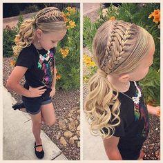 Little Girl Hairstyles Girls Hairdos, Baby Girl Hairstyles, Dance Hairstyles, Easy Hairstyles For Long Hair, Pretty Hairstyles, Braided Hairstyles, Wedding Hairstyles, Kids Hairstyle, Wedding Updo