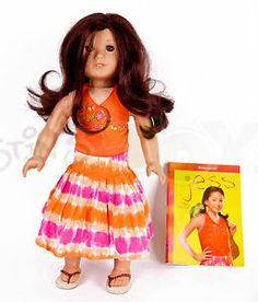 American Girl Doll of the Year 2006 | American-Girl-Doll-Jess-in-Meet-Dress-2006-doll-of-the-year-rare-Bonus ...