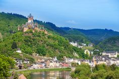 Cochem Castle, The castle that towers above the scenic town of Cochem on the Moselle River is not the castle that originally stood here in the 12th century.