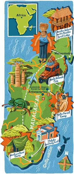 Elly Walton - Madagascar map