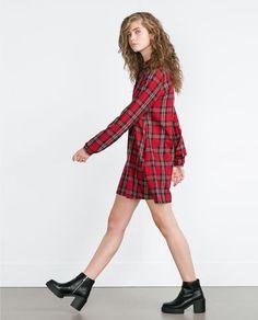 CHECK DRESS from Zara