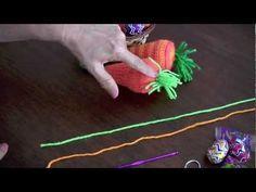 Tutorial: zanahorias para rellenar con huevitos de chocolate tejidas en crochet (amigurumi)