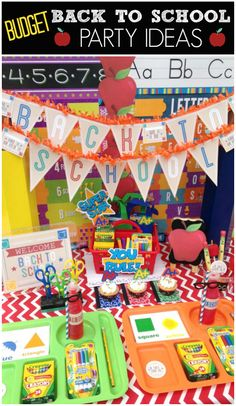 Here's some great ideas for throwing an awesome Back to School party on a budget!  See more party ideas at CatchMyParty.com!