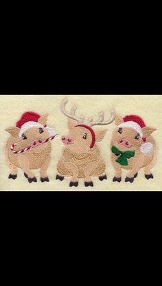 Piggy Christmas screen saver