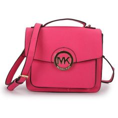 Dancing With The Fashion And Luxury Michael Kors Big Logo Medium Fuchsia Crossbody Bags Today!