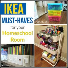 IKEA has some great items for your homeschool rooms; check out the favorites in this post.
