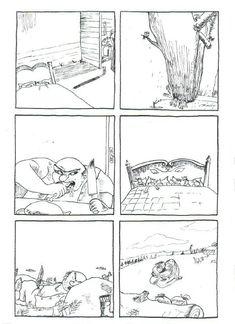 6 images séquentielles du Petit Poucet de Charles Perrault ...