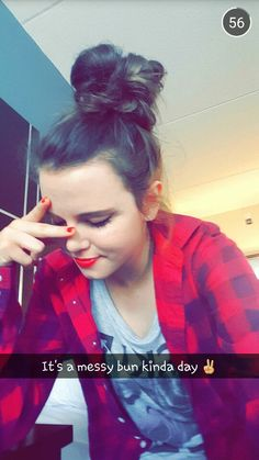 Posted by Tiffany Alvord Snapchat ID: tiffanyalvord Tiffany Alvord, Messy Bun, Snapchat, Most Beautiful, Fandoms, Singer, Hair Styles, Beauty, Women