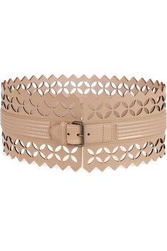 Alaïa perforated leather waist belt