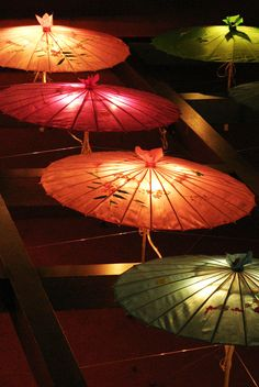 """lanterns"" of chinese umbrellas by ~masterpen2 on deviantART"