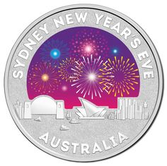 2015 Sydney New Years Eve Silver Frosted Unc Coin. This year's fireworks theme of Inspire is interpreted in colour on this beautiful silver piece. Sydney New Years Eve, Firework Colors, Gold And Silver Coins, Silver Bullion, Australia, Rare Coins, How To Get Rich, Goods And Services, Coin Collecting