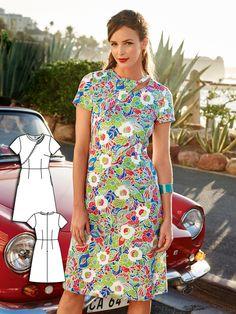 Short Sleeve Cutout Dress 07/2016 #105A