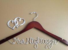 Personalized Wedding HangersBridal by Rosasbridalgifts on Etsy, $24.99