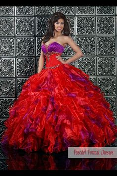 red n purple quince dress