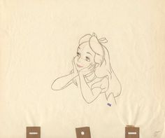 Sketches from the Disney movie Alice in Wonderland