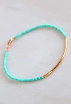 sweet little bracelets. would look amazing with different colors and stacked!