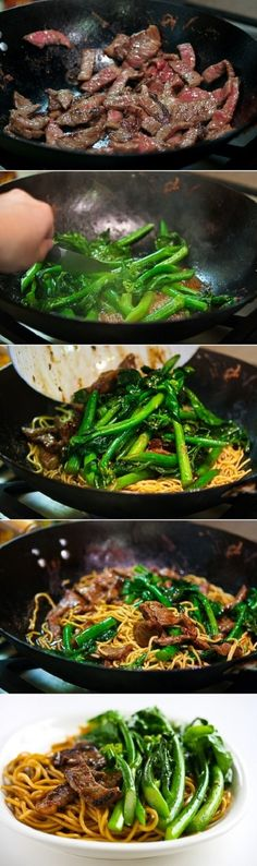 Chinese Broccoli Beef Noodle Stir Fry food recipe Share and Enjoy! Meat Recipes, Asian Recipes, Cooking Recipes, Healthy Recipes, Dinner Recipes, Recipies, Potato Recipes, Casserole Recipes, Crockpot Recipes