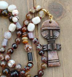 Captivating Beaded Necklaces, Smoky Quartz, Jewellery Storage, Pendant Jewelry, Unique Gifts, Boho, Jewelry Storage, Bohemian, Blue Necklace