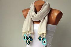 Turkish oya scarf --- I'm going to try to DIY something similar --- A Wonderful Design ---