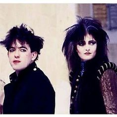They look so adorable together  #robertsmith #thecure #siouxsieandthebanshees #siouxsiesioux #theyaresoadorable #postpunk #punk #punkrock #alternativerock #80sgoth #tradgoth #goth #gothgoth