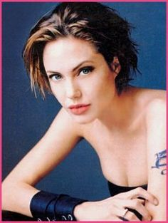 angelina jolie short hair salt google search beauty