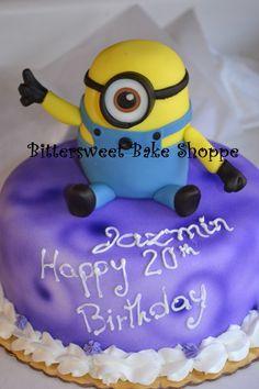 """Minion"" Birthday Cake Bittersweet Bake Shoppe Tyngsboro, Massachusetts"