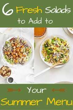 6 Fresh (and Filling!) Salads to Add to Your Summer Menu: Prep no-sweat meals with some of these delicious salad ideas #salads #cleaneating #healthy | everydayhealth,com