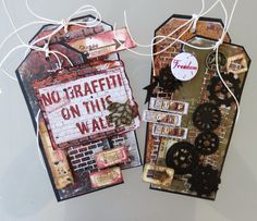 ScrapBerry's: Two awesome grungy tags made by Irit Shalom with our Edge of Town collection.