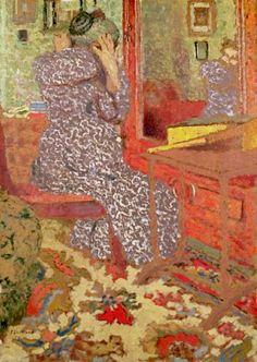 bofransson: Madame Vuillard arranging her Hair - Edouard Vuillard