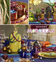Modern Moroccan - this would be so cool for a teen or preteen girl's party! Maybe find someone to teach them how to draw henna designs.