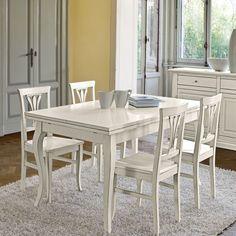 tavolo allungabile in legno shabby chic con 4 sedie firenze shabby chic