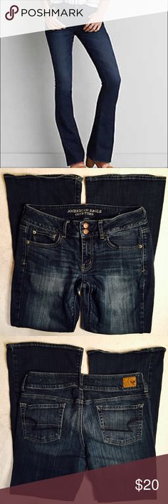 "American Eagle Artist stretch jeans American Eagle Artist stretch jeans. Good used condition. No notable flaws other than typical wear. Size 8 short. Waist laying flat 15"". Rise 8"". Inseam 29"". American Eagle Outfitters Jeans Boot Cut"