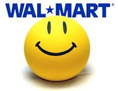 When Wal-Mart's Logo was with the smiley face, and kids got a smiley sticker when they walked in