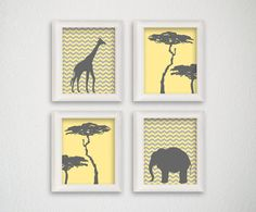 Jungle Nursery Art Nursery Art Print Safari by MiaoMiaoDesign, $20.00