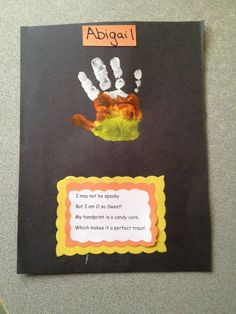 … Fall Art, Handprint Crafts, Easy Crafts, Preschool Halloween, Kids - Fall Crafts For Toddlers Halloween Crafts For Toddlers, Fall Crafts For Kids, Halloween Activities, Halloween Diy, Kids Crafts, Easy Crafts, Easy Diy, Fall Toddler Crafts, Fall Art For Toddlers