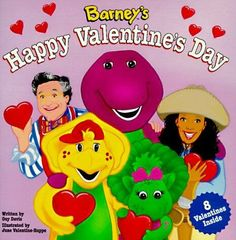 Vintage Barney's Happy Valentine's Day Book and Valentine Cards! Valentines Day Book, Dinosaur Valentines, Valentine Day Cards, Barney The Dinosaurs, Barney & Friends, Friend Book, Animal Books, A Christmas Story, Used Books