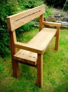Rustic Oak Garden Bench With Back And Arms. Handmade from Rustic Oak. Contact us with your requirements for your custom made Oak Furniture. garden bench Rustic Oak Garden Bench with Backrest And Arms Diy Wood Projects, Woodworking Projects, Teds Woodworking, Furniture Projects, Woodworking Skills, Furniture Plans, Kids Furniture, Furniture Chairs, Timber Furniture