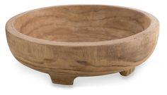 Makassar Round Paulownia Wood Bowl