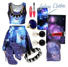 """""""A Galaxy Look"""" by stylememint ❤ liked on Polyvore featuring Steve Madden, Kenneth Jay Lane, George & Laurel, Ippolita, Maybelline and Torrid"""