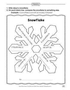 simile snowflake poetry