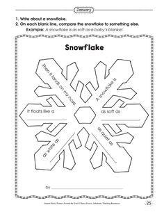 simile snowflake poetry
