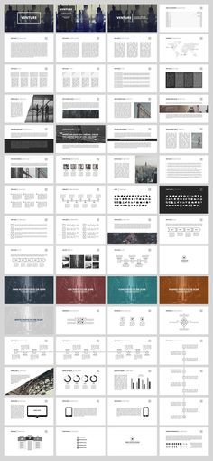 Venture Business Minimal Presentation Template Design