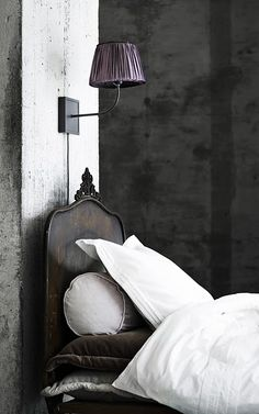 Interior Design Inspirations...Antique day bed...black & white..Chic Bedroom