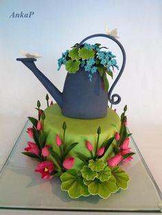 {Such a *Fun* Gardening cake by AnkaP}