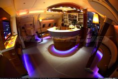Gorgeous amenities of flying palace of Airbus A380