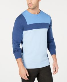 Alfani Men s Lightweight Colorblocked Knit Sweater 0ad49fa07a9